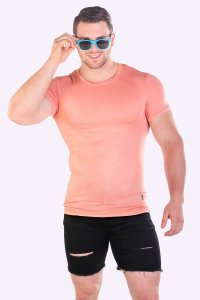 JJ Malibu Cruisin Cupcake Short Sleeved T Shirt Peach JJTOP0...