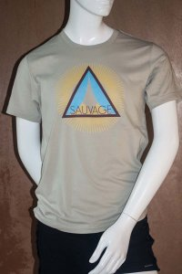Sauvage Burst Short Sleeved T Shirt Silver