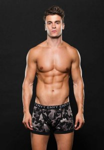 Envy Camo Logo Elastic Boxer Brief Underwear Grey E053