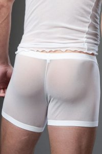 N2N Bodywear Net Pouch Boxer Brief Underwear White N10