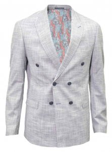 Spazio Canvas Blazer Jacket Navy Blue BL-030