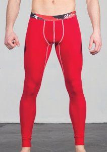 Geronimo Long Johns Long Underwear Pants Red 1664J6-3