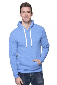 Royal Apparel Unisex Eco Triblend Fleece Pullover Hoody Long Sleeved Sweater Eco Tri Royal 37055