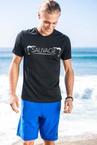 Sauvage Bend Short Sleeved T Shirt Black
