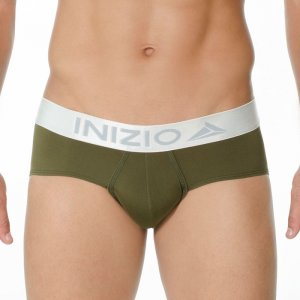 Inizio Million Microfiber Brief Underwear Green 29896