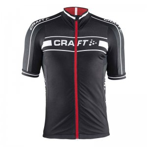 Craft Grand Tour Jersey Short Sleeved T Shirt Black/Bright Red 1902615