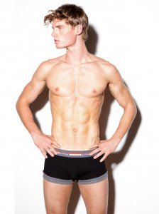 N2N Bodywear Quantum Boxer Brief Underwear Black UN94
