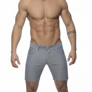 Addicted Cotton Blend Shorts Navy AD247