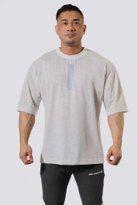 Jed North Energy Oversized Short Sleeved T Shirt Grey JNTOP0...