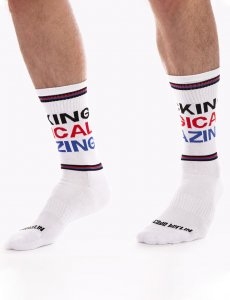 Barcode Berlin Fucking Magical Amazing Gym Socks White/Black...