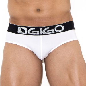 Gigo ENERGY WHITE Brief Underwear G01123