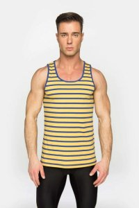ST33LE Summer Stripe Tank Top T Shirt Yellow STL024YLW