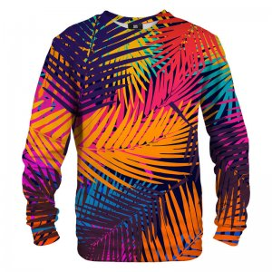 Mr. Gugu & Miss Go Colorful Palm Unisex Sweater S-PC1267