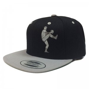 Ajaxx63 Pitcher Two Tone Flat Brim Cap Black/Grey CP29