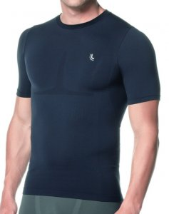 Lupo Compression Short Sleeved T Shirt Black 70040-1