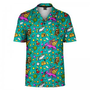Mr. Gugu & Miss Go Pixel Game Short Sleeved Shirt SH-SHT1482
