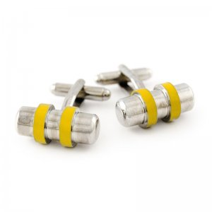 Ulterior Motive Chrome Cogwheel Cufflinks