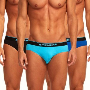 Papi [3 Pack] Cotton Stretch Low Rise Brief Underwear Blue 980403