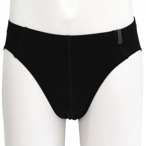 Minerva Micro Cotton Slip Inside Rubber Brief Underwear Black 21040