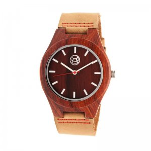 Earth Wood Aztec Leather-Band Watch - Red ETHEW4103