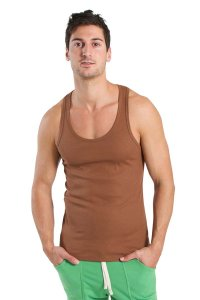 4-rth Edge Sustain Tank Top T Shirt Chocolate