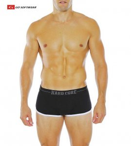 Go Softwear Hard Core Edge Boxer Brief Underwear Black/White 4174