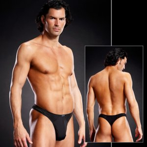 Blue Line Performance Microfiber Thong Underwear Black BLM00...