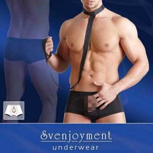 Svenjoyment Leash Open Pouch Swell Boxer Brief Underwear Black 2131765