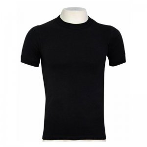Minerva Sporties Basic Vest Muscle Top T Shirt Black 10130