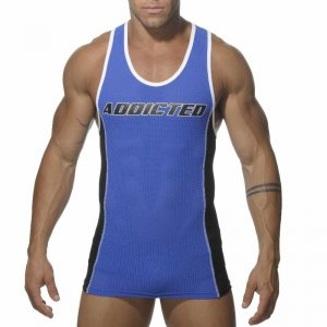Addicted Sport Mesh Tank Top T Shirt Royal Blue AD200