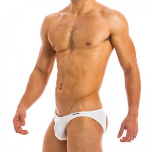 Modus Vivendi Eggs Bottomless Jock Brief Jock Strap Underwear White 09812