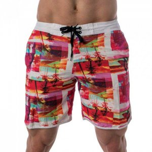 Lord Tropical Collage Boardshorts Beachwear Fuchsia MA005