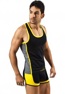 Clever Clever Sporty Hoodie Tank Top T Shirt Black 7017
