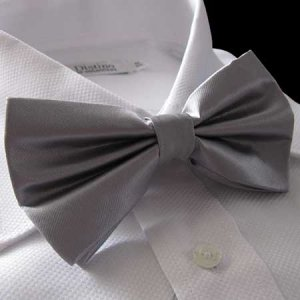 Distino Of Melbourne Solid Bow Tie Silver DB3