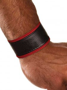 Colt Leather Wrist Strap Red