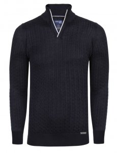 Giorgio Di Mare Jersey Long Sleeved Sweater Navy GI9849135