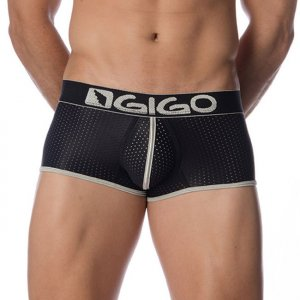 Gigo HOLLOW BLACK Short Boxer Underwear G02096