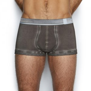 C-IN2 Scuff Lo No Show Army Trunk Underwear Grey Knight 5123