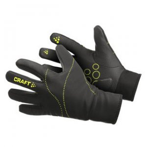 Craft Weather Bike Gloves Black/Green 1900709