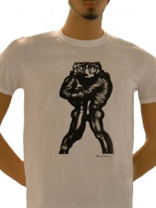 Tom Of Finland Leather Duo Short Sleeved T Shirt White