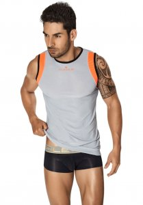 Clever Xavier Tank Top T Shirt Grey 7022