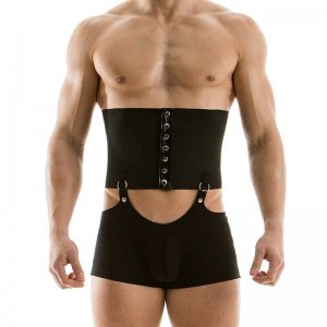Modus Vivendi Transformer Corset Boxer Brief Underwear Shapewear Black 16221-1