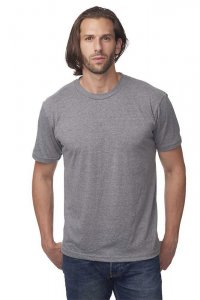 Royal Apparel Unisex Tubular 50/50 Blend Short Sleeved T Shirt Heather Charcoal 17051T