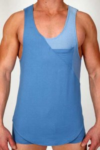 Pistol Pete Urban Tank Top T Shirt Sky TK161-119