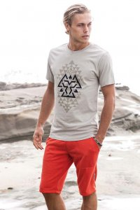 Sauvage Tribal Short Sleeved T Shirt Silver