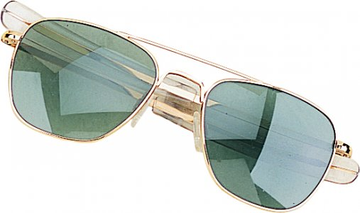 Humvee Pilot 57mm Sunglasses Gold HMV-57B
