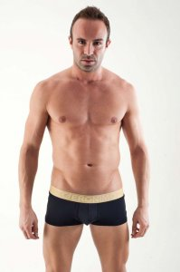 Geronimo Contour Boxer Brief Underwear Black 1356B1