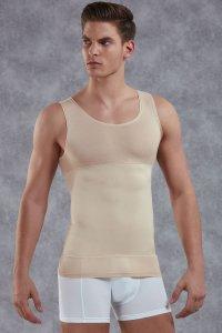 Doreanse 5950 Mens White Cotton Shaping Body Control Top Tank Vest Top