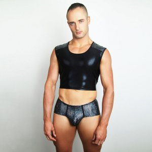 Downundergear Activator Gator Body Hugging Cropped Muscle To...
