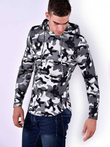 Roberto Lucca Army Hoodie Long Sleeved Sweater Camo 80212-11...